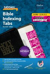 Camo Bible Indexing Tabs - Pink