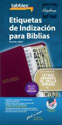 Spanish Large Print Bible Indexing Tabs - Gold-Edged