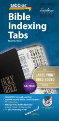 Large Print Bible Indexing Tabs - Gold-Edged