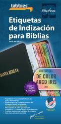 Classic Bible Indexing Tab - Spanish - Rainbow