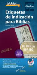 Classic Bible Indexing Tab -  Spanish - Gold-Edged